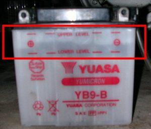 batteria scarica livello acidi